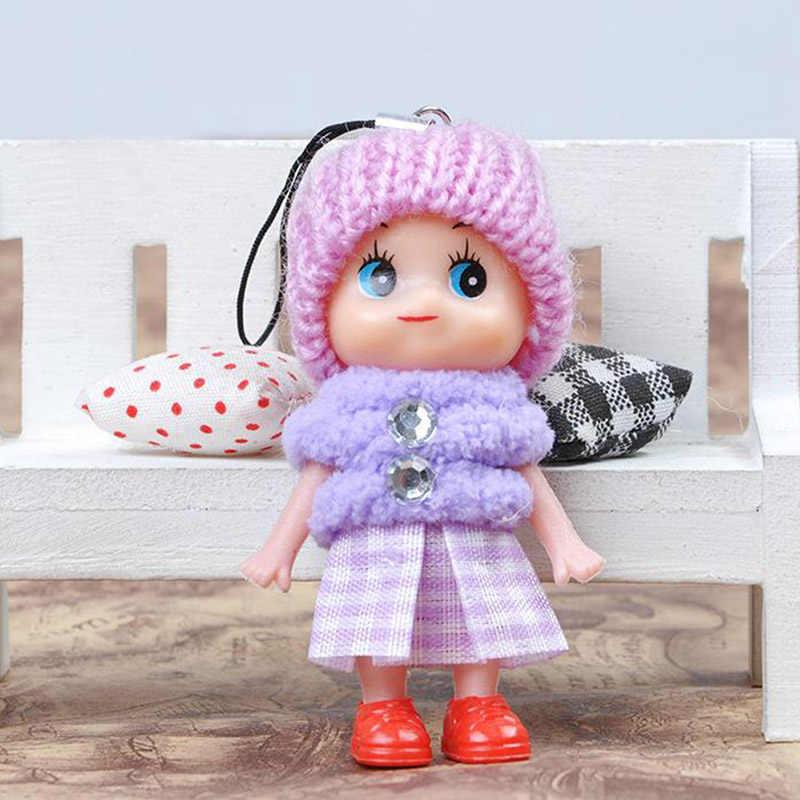 Милые мини плюшевые куклы для девочек, модные детские плюшевые куклы, мягкие набивные брелоки с игрушками, новая кукла для девочек и женщин, случайный цвет