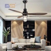 E27 Edison Loft Industriellen Eisen Glas Holz Deckenventilator. Led lampe. LED Licht. Deckenleuchten. LED Deckenleuchte. Für Foyer Schlafzimmer|Deckenventilatoren|   -