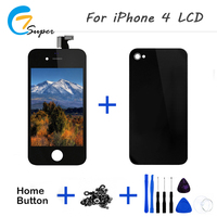Hot Truth 1PCS No Spots For IPhone4 LCD Display Touch Screen With Digitizer Assembly Back Cover