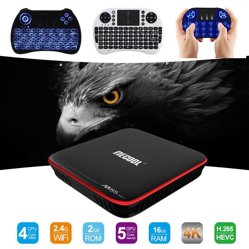 MECOOL M8S PRO W Android 7.1 TV Box Amlogic S905W CPU 2GB RAM 16GB ROM Quad Core 4K HD Mali-450 DDR3 Smart Media Player PK X96W