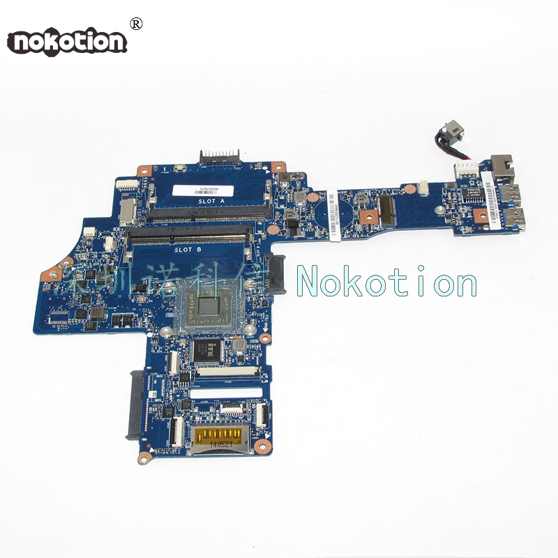 NOKOTION H000078270 Main Board For Toshiba Satellite C40-B Laptop Motherboard AM6310 CPU Onboard DDR3 Full tested nokotion genuine h000064160 main board for toshiba satellite nb15 nb15t laptop motherboard n2810 cpu ddr3