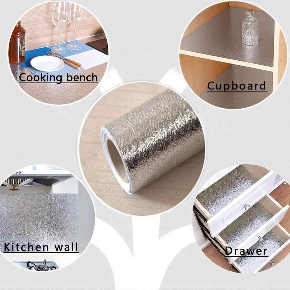 Self Adhesive Waterproof Oil-proof Aluminum Foil Kitchen Wall Sticker 40 *100cm