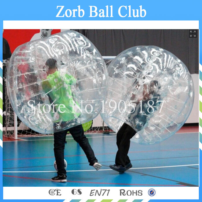 Free Shipping 1. 7m 0.8mm TPU Inflatable Bubble Soccer ,Bubble Football ,Body Zorb Ball For Team Games