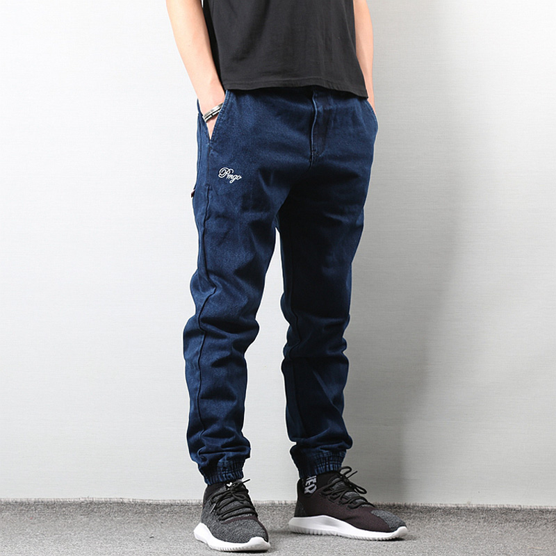Japanese Style Fashion Men s Jogger Jeans Black Blue Color Streetwear Punk  Pants Hip Hop Jeans Men Slim Jeans Cargo Pants Homme. 19. 20. 21. 26 fb1a93104