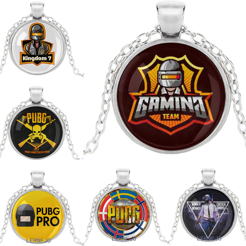 Fps Game Pubg Logo Necklace Pendant Figure Playerunknown S