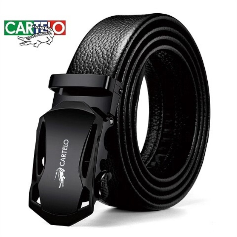 CARTELO Genuine Leather Belt For men's Leisure Automatic Buckle Fashion Trend all-matching Business Youth Belt