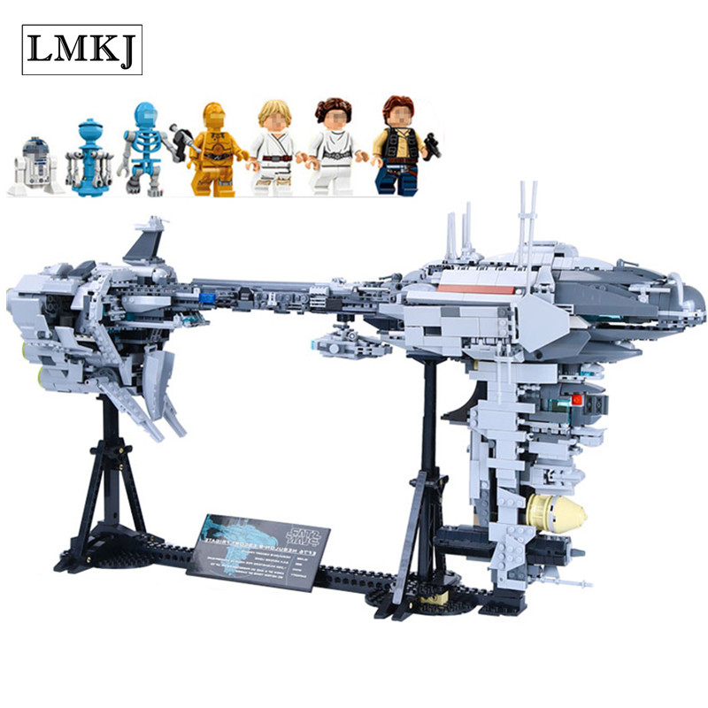 Lepin 1736Pcs Star Series War MOC The Nebulon Model B Set Frigate Building Blocks Bricks Toys Compatible with Legoingly for Gift lepin 05048 543pcs star war seiers the tie striker building blocks bricks figures toys compatible with 75154