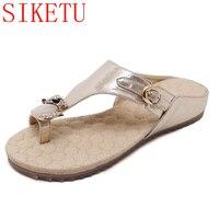0bcae97b6 SIKETU Bling Rhinestones Women Sandals Slippers Shoes Pu Leather Women  Summer Style Tong Shoes 325-