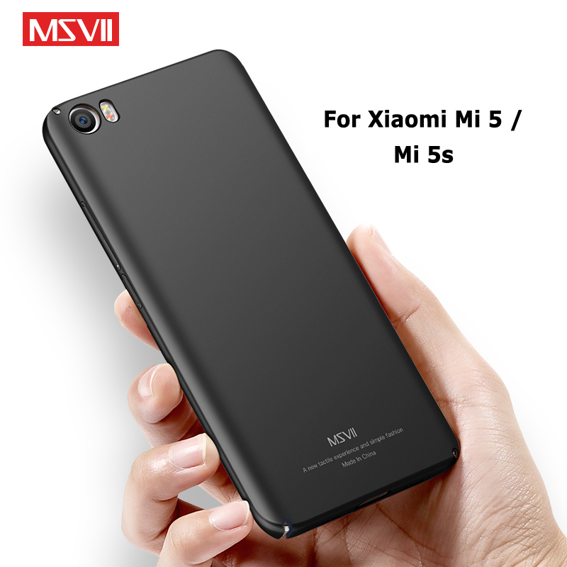 Xiaomi Mi 5 Case Cover Msvii Silm Frosted Cases For Xiaomi Mi 5S Mi5s Case Xiomi Mi5 PC Cover For Xiaomi Mi5 S M5 Cases 5.15