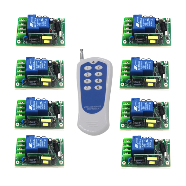 ФОТО AC 85-250V 30A 8 Ch 315MHz 2 Modes Wireless Remote Control Switch 1000m Multifunction 5479