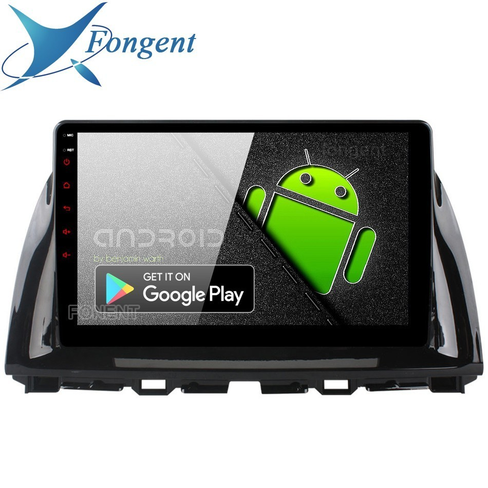 """1 Din Android 9.0 voiture Navigation Gps multimédia pour Mazda Cx5 Cx 5 2013 2014 2015 Dsp 64gb Rom 10.2 """"ips écran PX6 RK3399 Radio"""