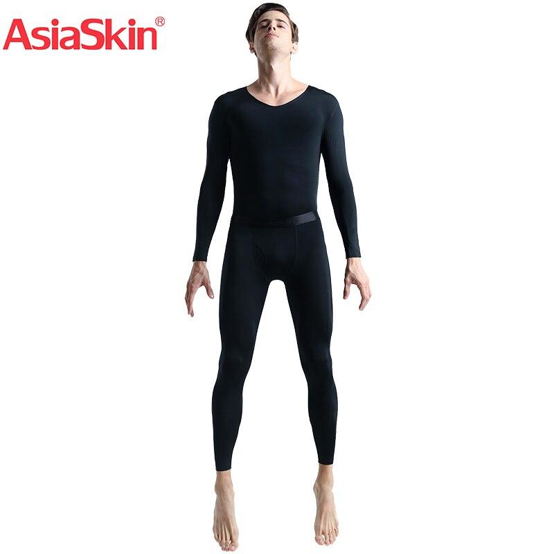 2018 Hommes Slip Solides Longue Série Johns Pantalon Low Rise Sous-Vêtements Minces tricoté Sans Couture Sous-Vêtements Ensembles Ropa Intérieur Hombre