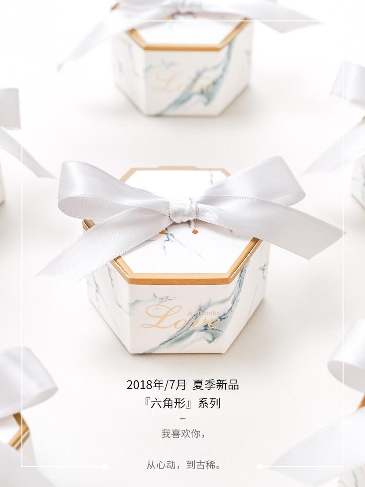 Chaud!!! 2019 Newst Arrive en marbre faveur de mariage et doux cadeau sacs boîte à bonbons pour événement de mariage Elmo fête fournitures 100 pièces