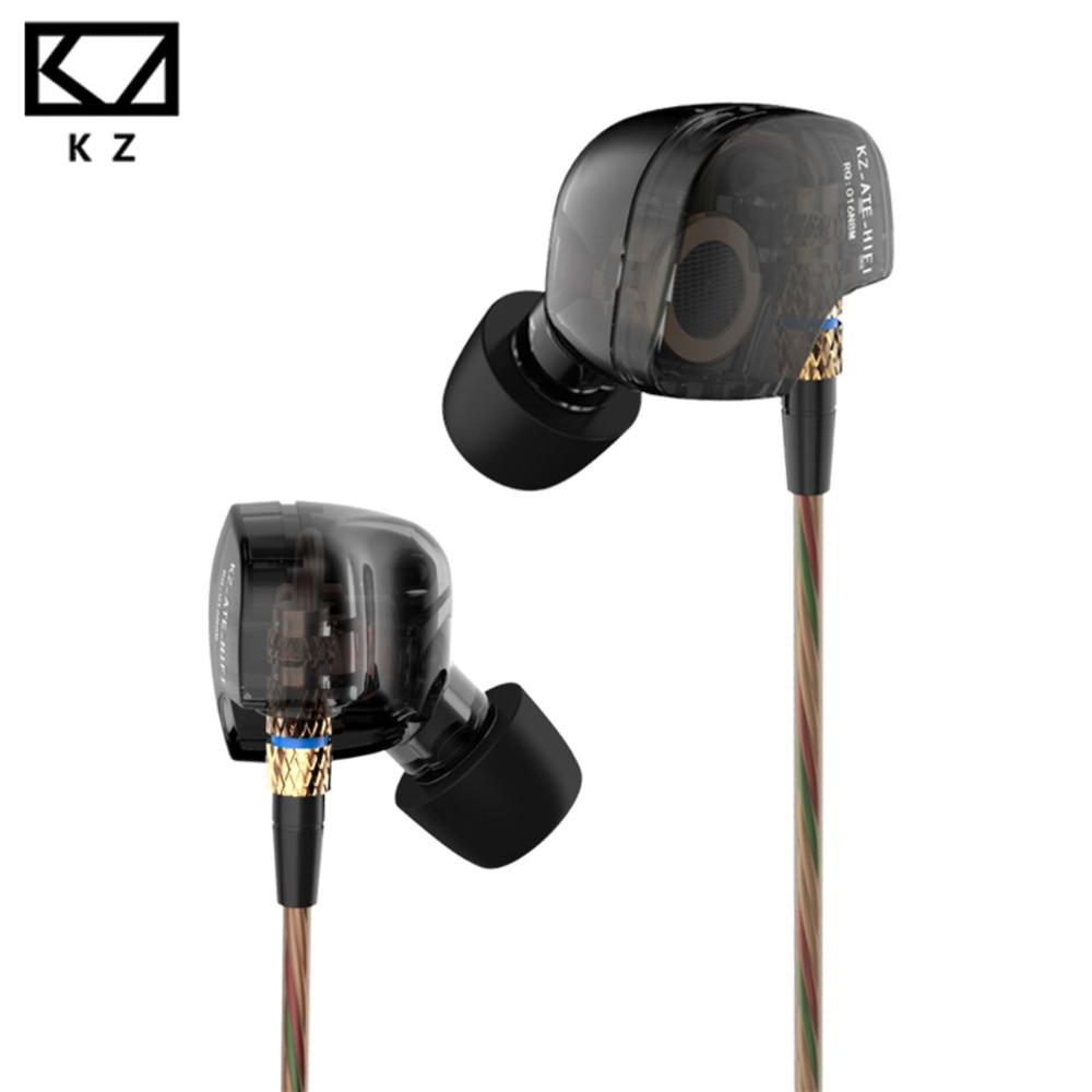 Original KZ ATE Earphone 2017 New Arrival 3.5mm in ear Earphones HIFI Metal auriculares sport portable Earphones Super Bass
