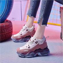 Tleni Female Platform Increased Chaussure Femme Sneakers Footwears Mesh Women Wedges high heel