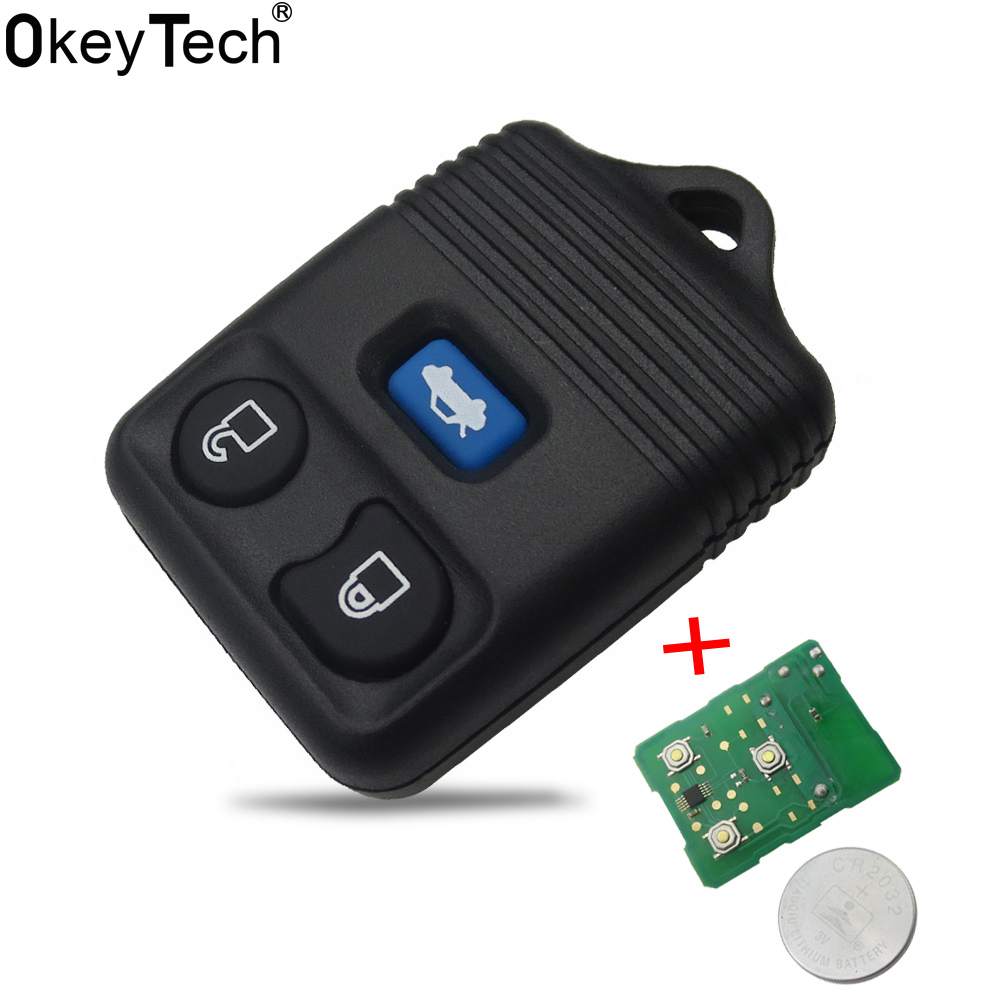 OkeyTech Replacement 3 Buttons Remote Control Key Fob Case 433MHz for Ford Transit MK6 Connect 2000-2006 Auto Refit Car Key Fob 029337 replacement car remote control key case for chrysler grey silver