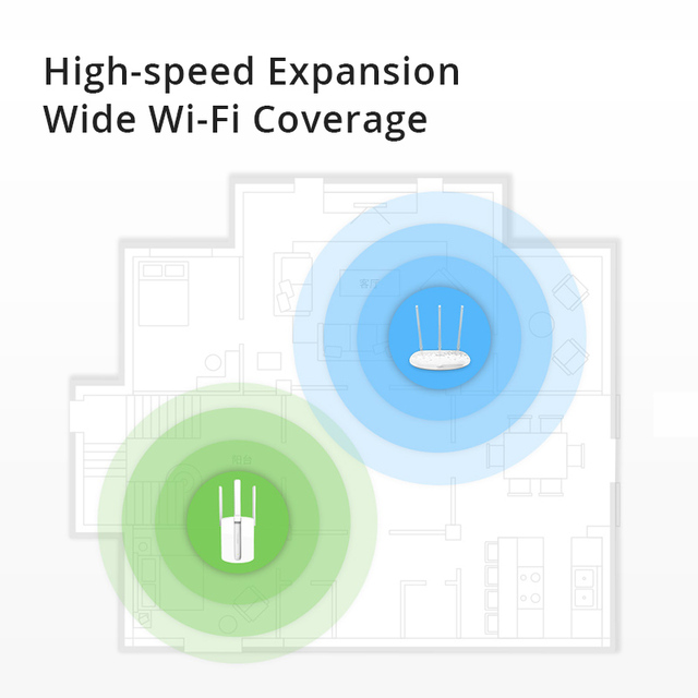 TP-link Wifi Extender Wireless Range Extender Expander 450Mbps Wifi Signal Amplifier Repeater three antennas 2