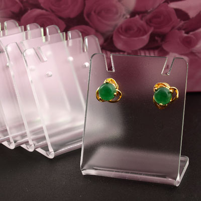 2018 New Wholesale 100pcs 43 35mm Black Acrylic Earring Display Stand Holder Fashion Jewelry Display jewelry