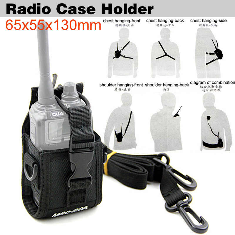 Universal Multi-function Portable Protection Case Bag for Baofeng BF-888s UV-5R Kenwood Yaesu Most Walkie Talkie Two Way Radio