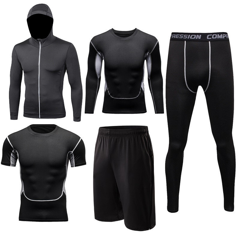 Men s Yoga suit Fitness sportswear physical workout Clothes Suits Running jogging Sports clothing Tracksuit