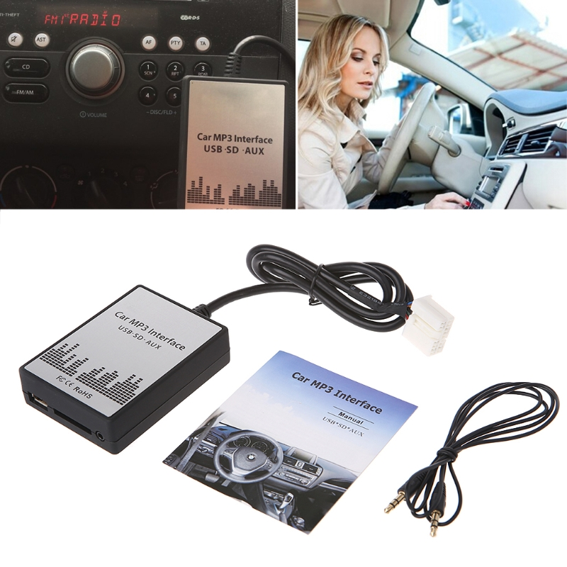 New Popular USB SD AUX Car MP3 Music Player Adapter CD Change for Suzuki for Fiat for Opel High Quality