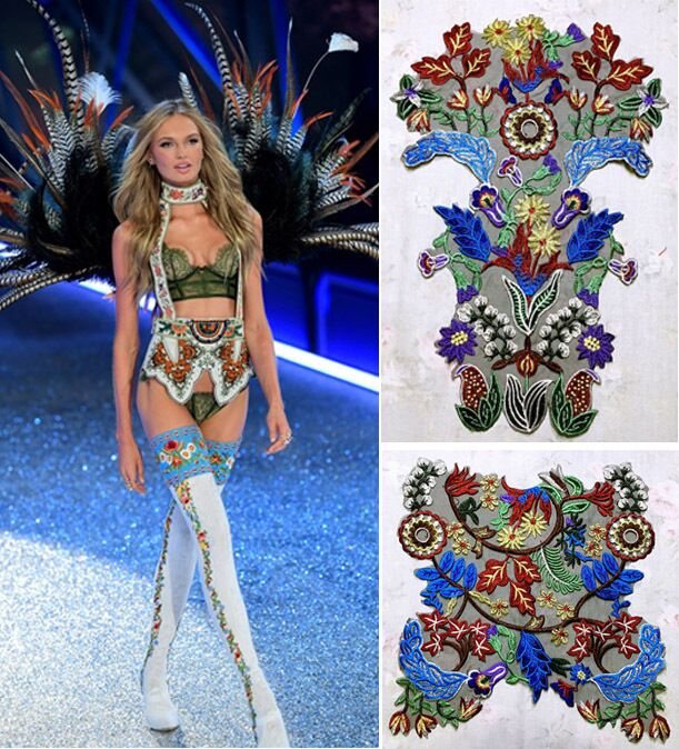5pieces New fashion High quality mixed colors embroidered Front skirt patches clothing dress appliques