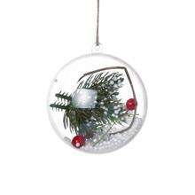 Украшения шар романтичный дизайн Рождество прозрачный может открыть пластик Рождество прозрачный шар украшение подарок 22. OCT.18