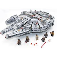 LEPIN 05007 1381pcs Star Wars Millennium Falcon Outer Space Ship Building Blocks Model Sets Bricks Toys