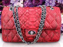 100% genuine python skin handbag  2016 Newest fashion women shoulder bag, cross body bag snake skin leather