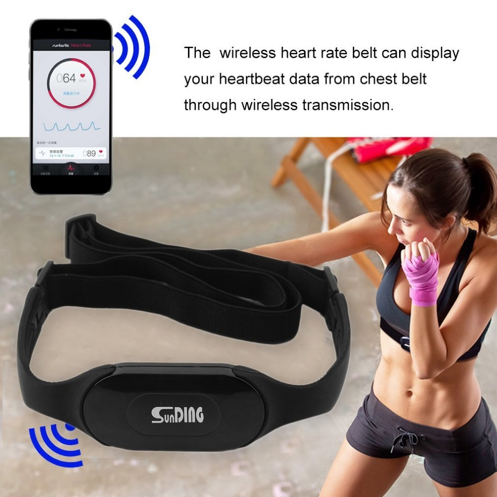 Waterproof Bluetooth 4.0 Wireless Heart Rate Monitor Wireless Heart Beat Belt Sports Perform Calories And Fat Calculation Black