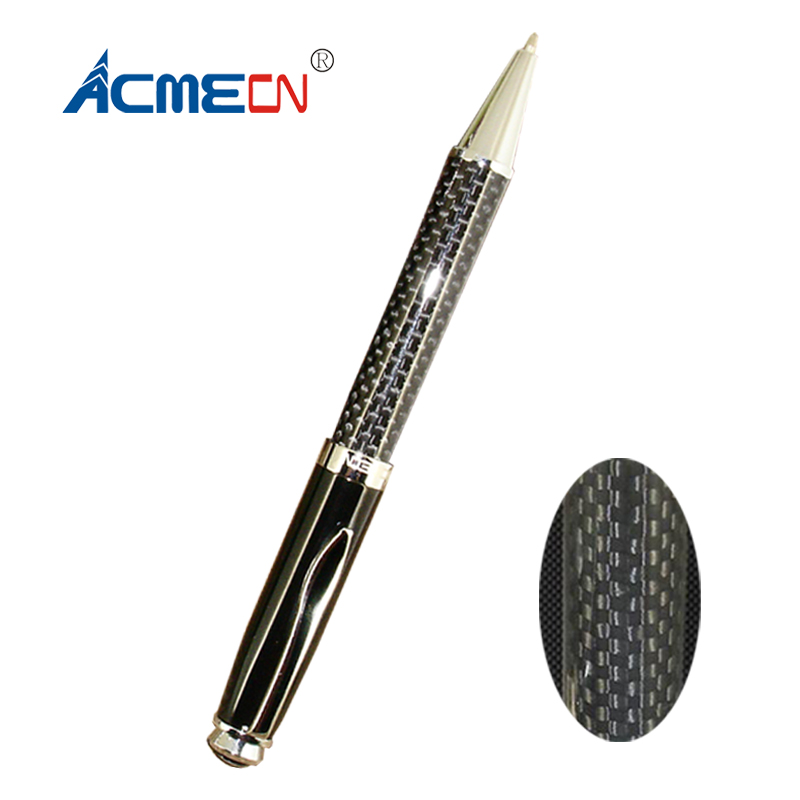 все цены на ACMECN Hot Sale High Quality Metal Ballpoint Pen for Business Gifts Office & School Writing Stationery Carbon Fiber Ball Pens онлайн