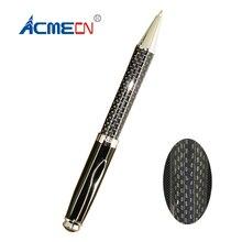 цена Free shipping Hot sale Classic Metal Carbon Fiber Ball Pen онлайн в 2017 году