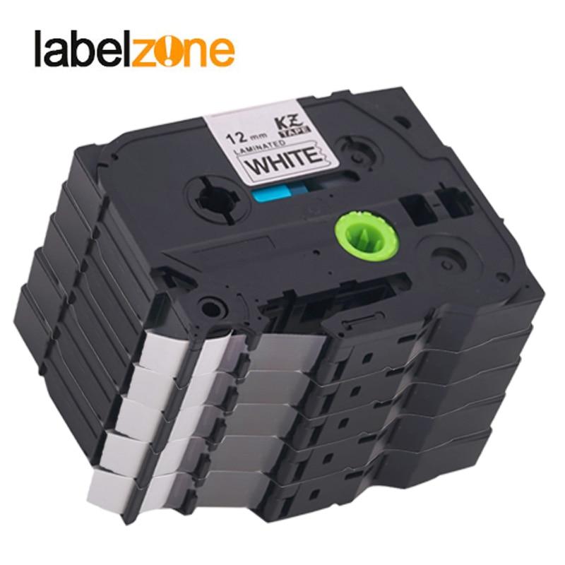 5pack/lot 24 colors tze tape compatible Brother p-touch printer Tze231 Tze-231 12mm for P Touch Tz231 tz-231 tze631 tze131 tz131