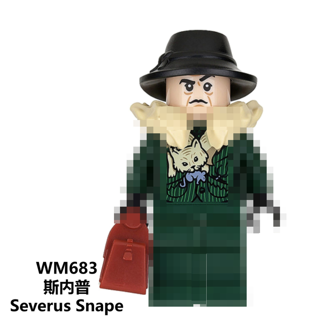 For Harri potters Figures Fantastic Beasts Hagrid Dobby Snape Dumbledore Ron Hermione  Lord Voldemort Model building Blocks Toys
