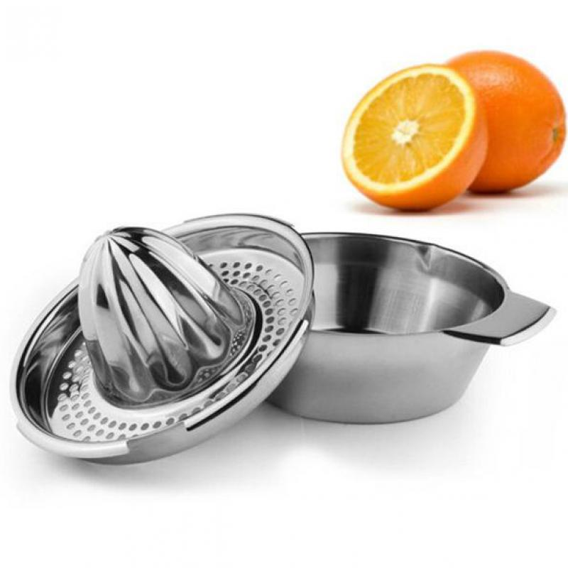 Orange Hand Press Commercial Pro Manual Citrus Fruit Lemon Juicer Juice Squeezer Stainless Steel Kitchen Gadgets Tools