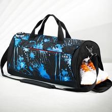 купить Sports Gym Bag Women Men Fitness Bags Yoga Waterproof Nylon Sport Bag Travel Training Shoulder Luggage Duffle Shoes Hunting Bags онлайн