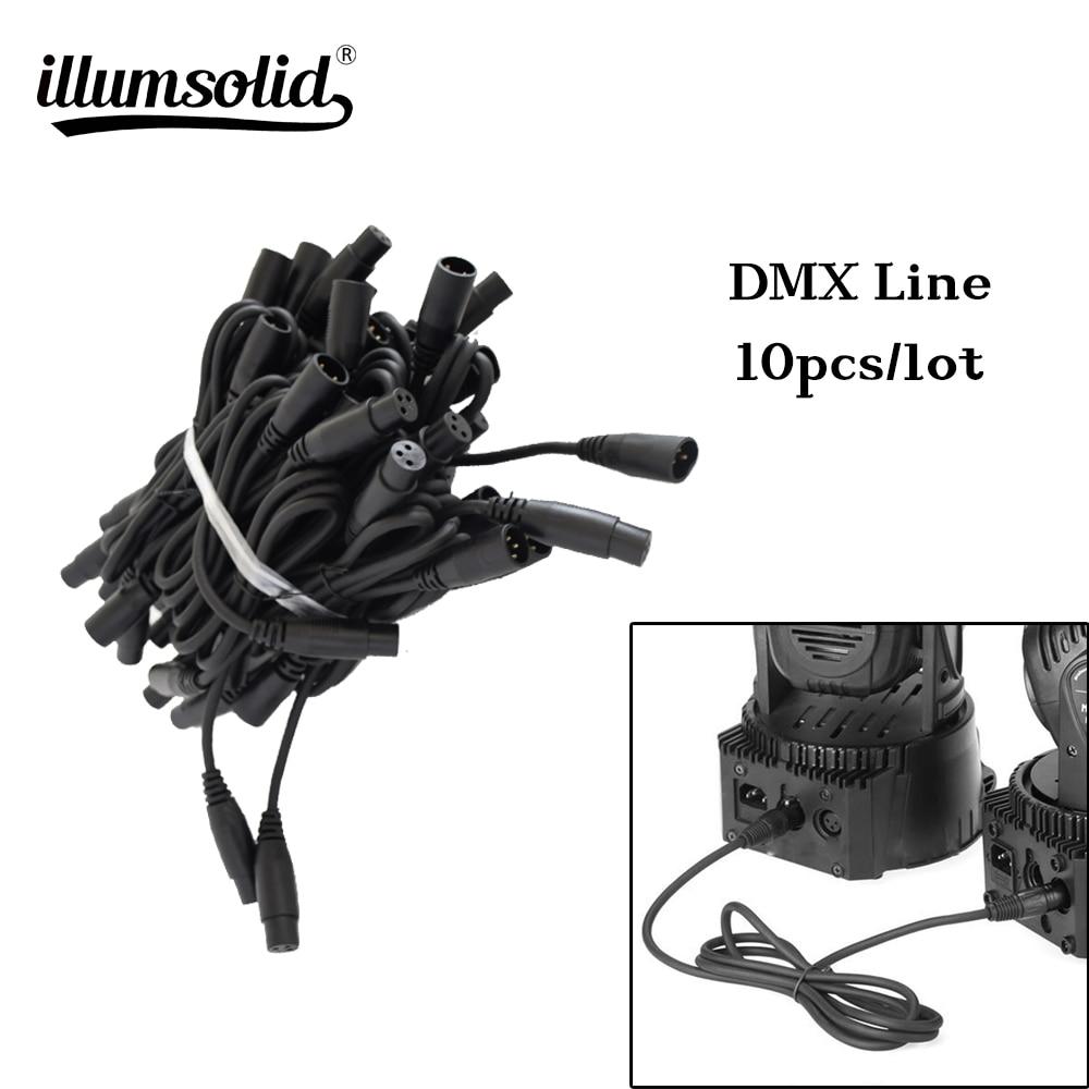 10pcs/Lot 1.2M Cable DMX Line For LED Par Moving Head Lights