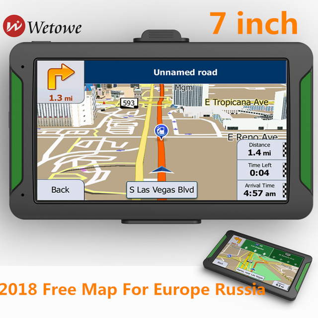 Wetowe G62 7 inch Car GPS Navigation FM Bluetooth AVIN Reversing Camera Russia US AU 2018 EU Free Map Truck gps navigators