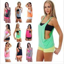 7 цветов летние пикантные Для женщин Топы быстрое высыхание свободные дышащие Фитнес рукавов жилет тренировки Топ Упражнение футболка