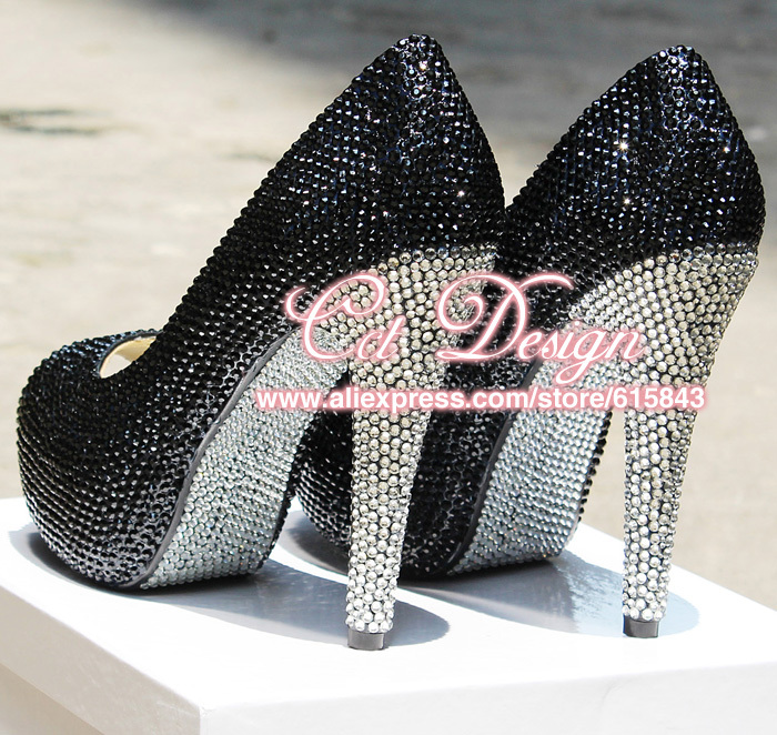 Color Customized Black And White Diamond Party Evening -6418