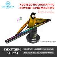 TBDSZ holograma 3D pantalla publicitaria LED ventilador holográfico imagen 3D LED ventilador luz 3d pantalla publicidad logo Luz Decoración