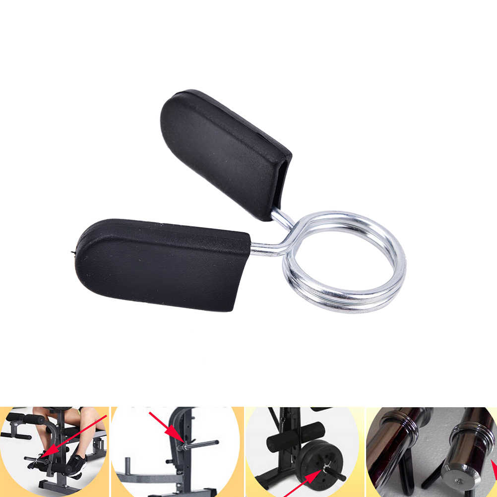 Spinlock Kerah Barbel Kerah Kunci Dumbell Klip Clamp Berat Lifting Bar Gym Dumbbell Kebugaran Tubuh Bangunan 1X25 Mm
