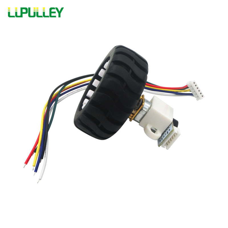 LUPULLEY GA12 <font><b>N20</b></font> Micro Gear Reducer DC Motor with <font><b>Encoder</b></font> Test Code Tray 3/6/12V,15/30/50/200/300/500/1000RPM Mounting Bracket image