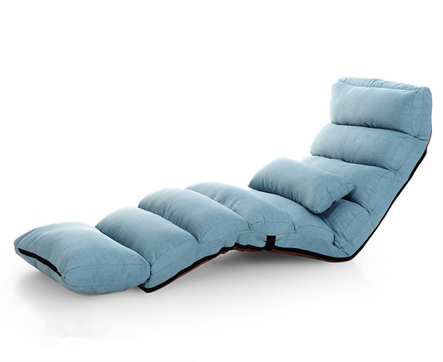 Modern Sofa Bed Lounge Upholstered Chaise Indoor Living Room Reclining Chair 5 Color Floor Folding Adjule Sleep Lounger