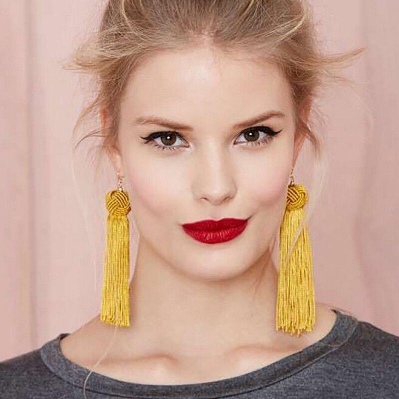 Verantwortlich 2018 Neue Mode Frauen Vintage Kristall Quaste Baumeln Ohr Stud Earwears Heißer Zubehör Für Frauen Fisch Haken Stil Zu Den Ersten äHnlichen Produkten ZäHlen