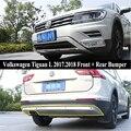 JIOYNG для Volkswagen VW Tiguan L 2017 2018  передний + задний бампер  диффузор  бампер  защита для губ  противоскользящая пластина  нержавеющая сталь