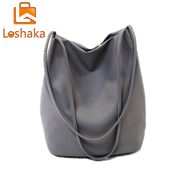 56236f3dcd90 New Designer Women Leather Handbags Black Bucket Shoulder Bags Ladies  Crossbody Bags Large Capacity Ladies Shopping