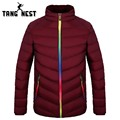 TANGNEST Men's Satnd Color Parka New Design Fashion Male Asian Size Winter Warm Slim Fit Solid Coat MWM1486