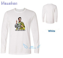 Hot AARON RODGERS relax long sleeve 100% cotton t shirts Mens gift ls T- shirts for fans 0214-15 e55ee92e3