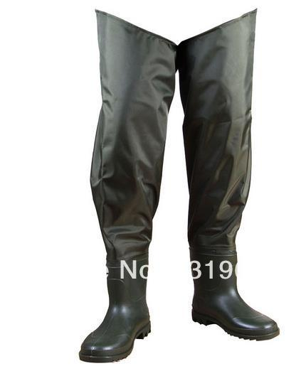 цена на Size 42 Green Boot-foot Fishing Wader Fly Carp Waterproof Fishing Pants